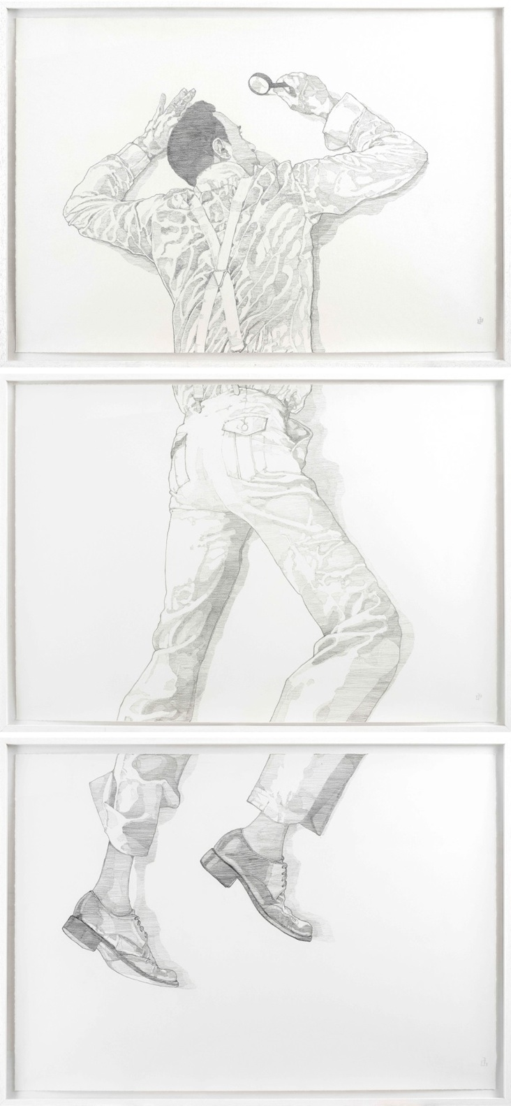 Surface (triptych), 2012  Pitt Pencil on paper. dimensions: 240*120 cm. Exhibited at    Made to Measure  Marie-Laure Fleisch gallery, Rome