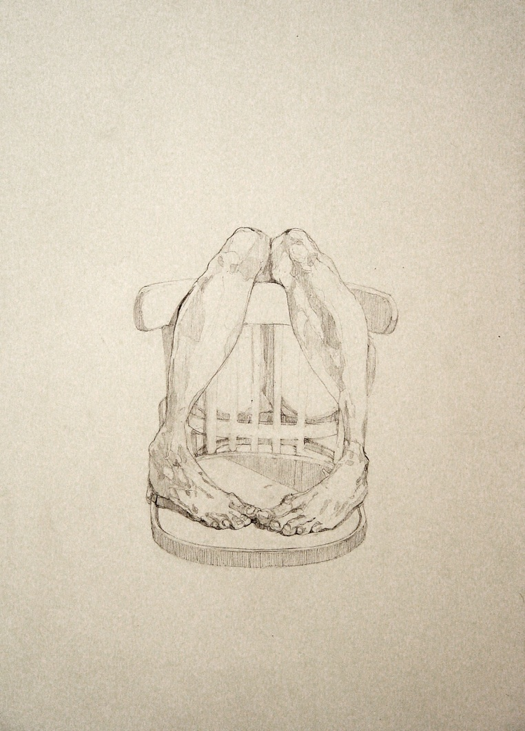 HERE AND NOW 2. 2009  Mechanical pencil on paper. dimensions: 59.4*42 cm. private collection.