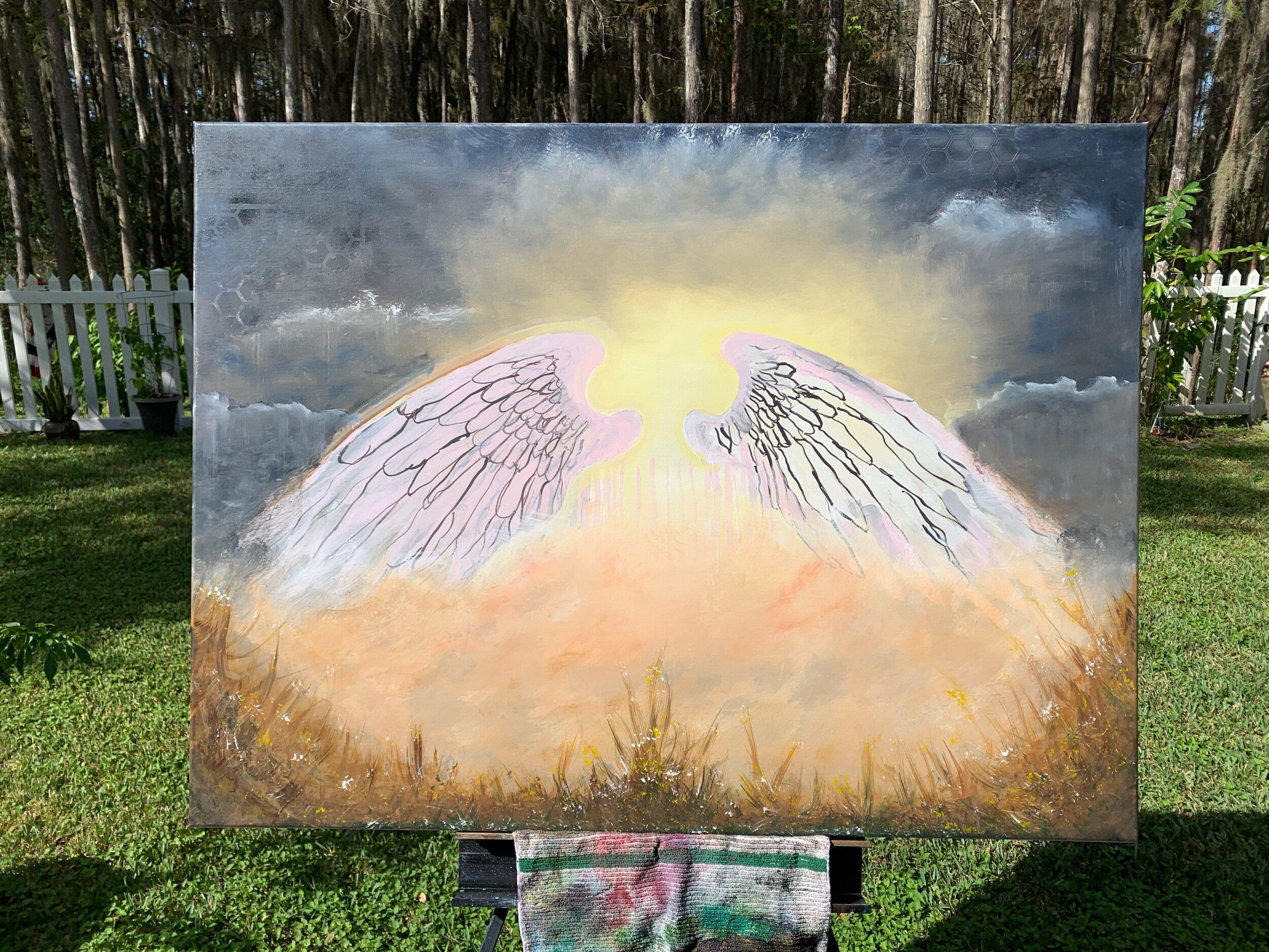 Angel wings in progress  UNTITLED