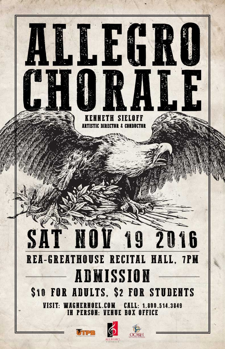 """The Allegro Chorale presents its first concert of the 2016-2017 Concert Season which will feature music from the American Civil War. Featured on the concert is music of Jeffrey Van titled """"A Procession Winding Around Me"""" with guest artist Jacob Porter on guitar.    Purchase tickets  HERE !"""