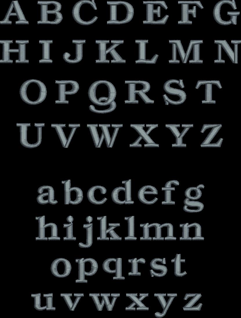 serif block