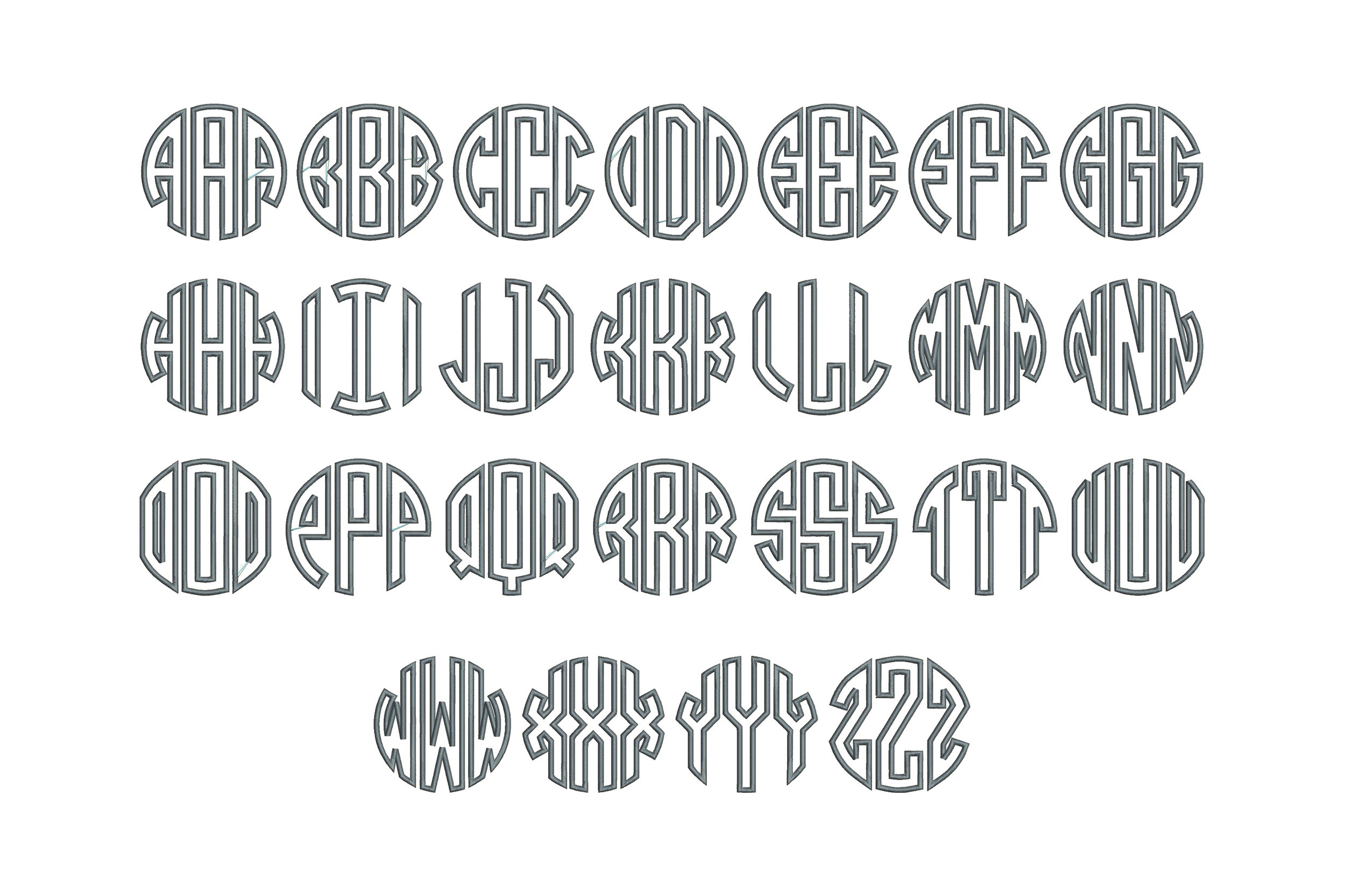 Circle Mono Font Board
