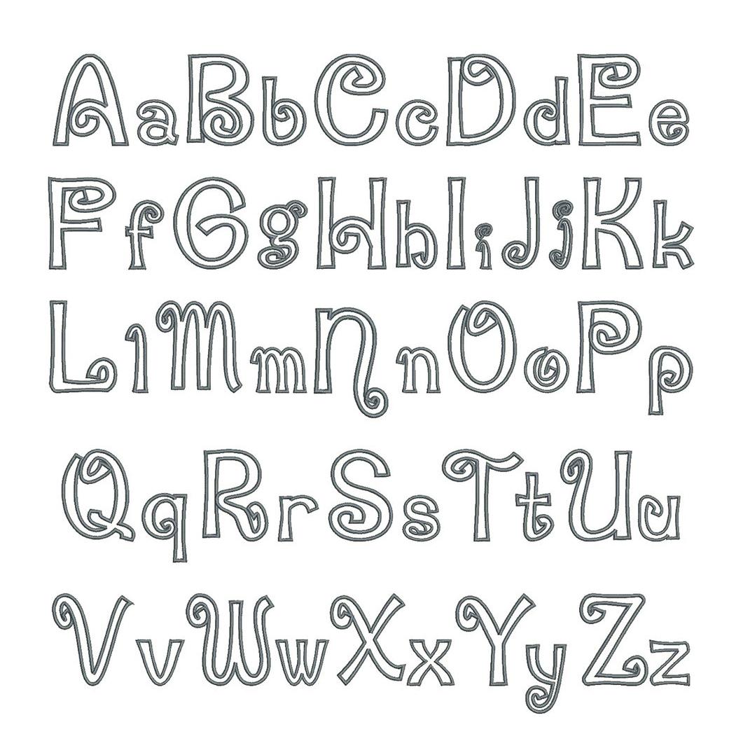 Swirly Applique Font Board