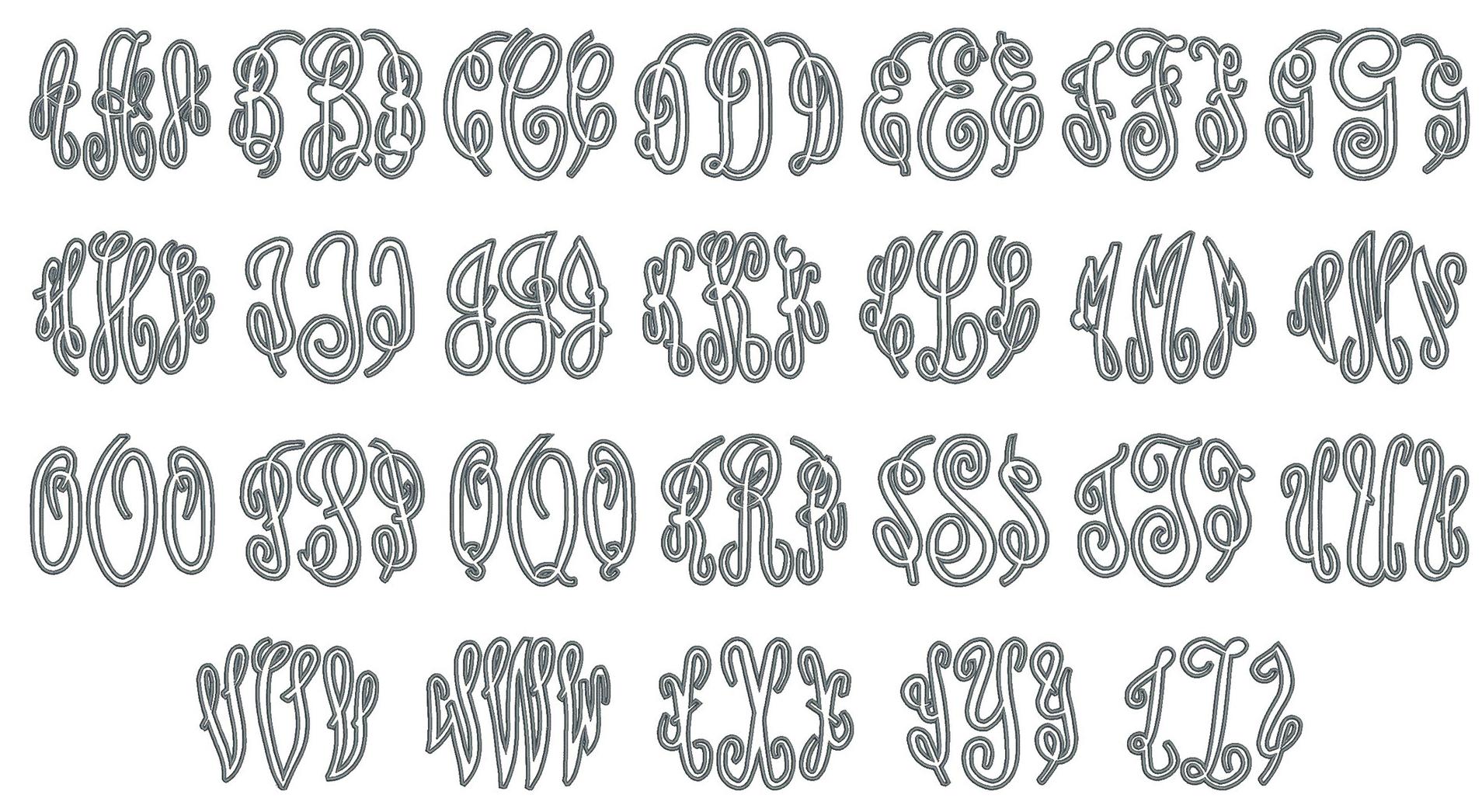 Grand Applique Font Board