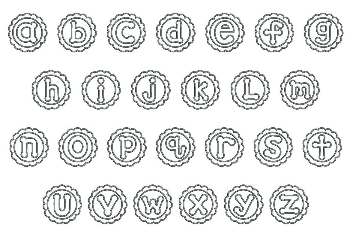 Flower Patch Applique Font Board
