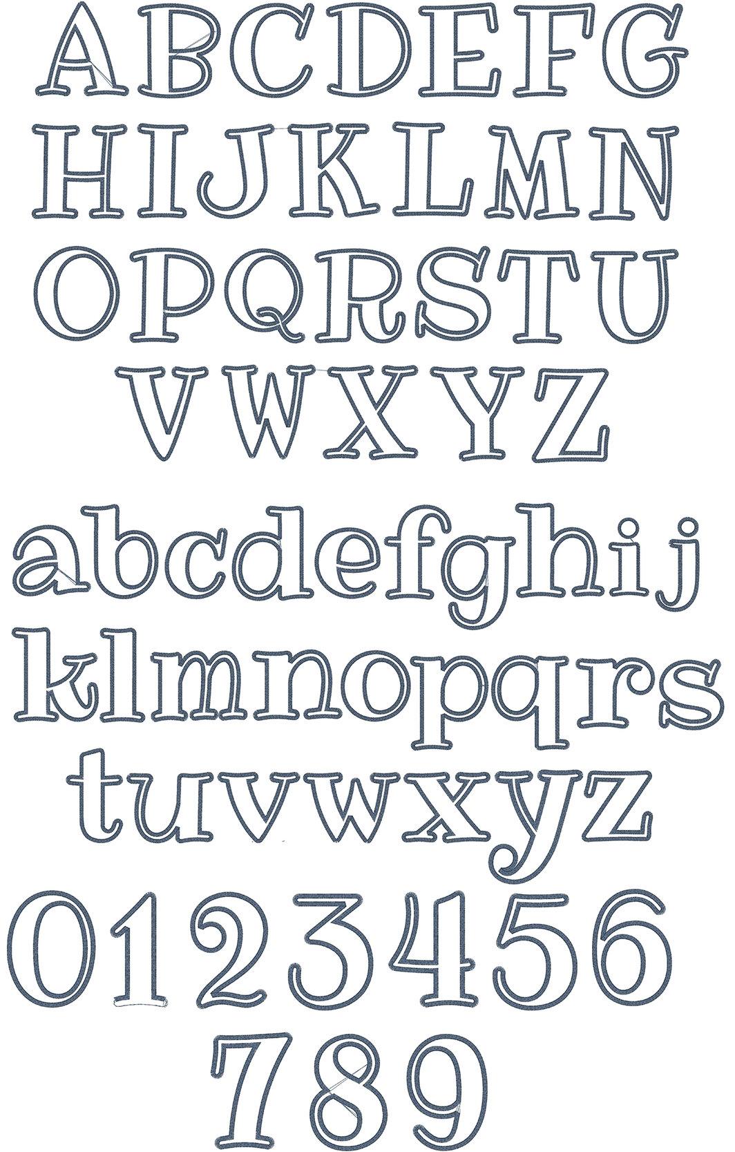 Cute Alphabet Applique