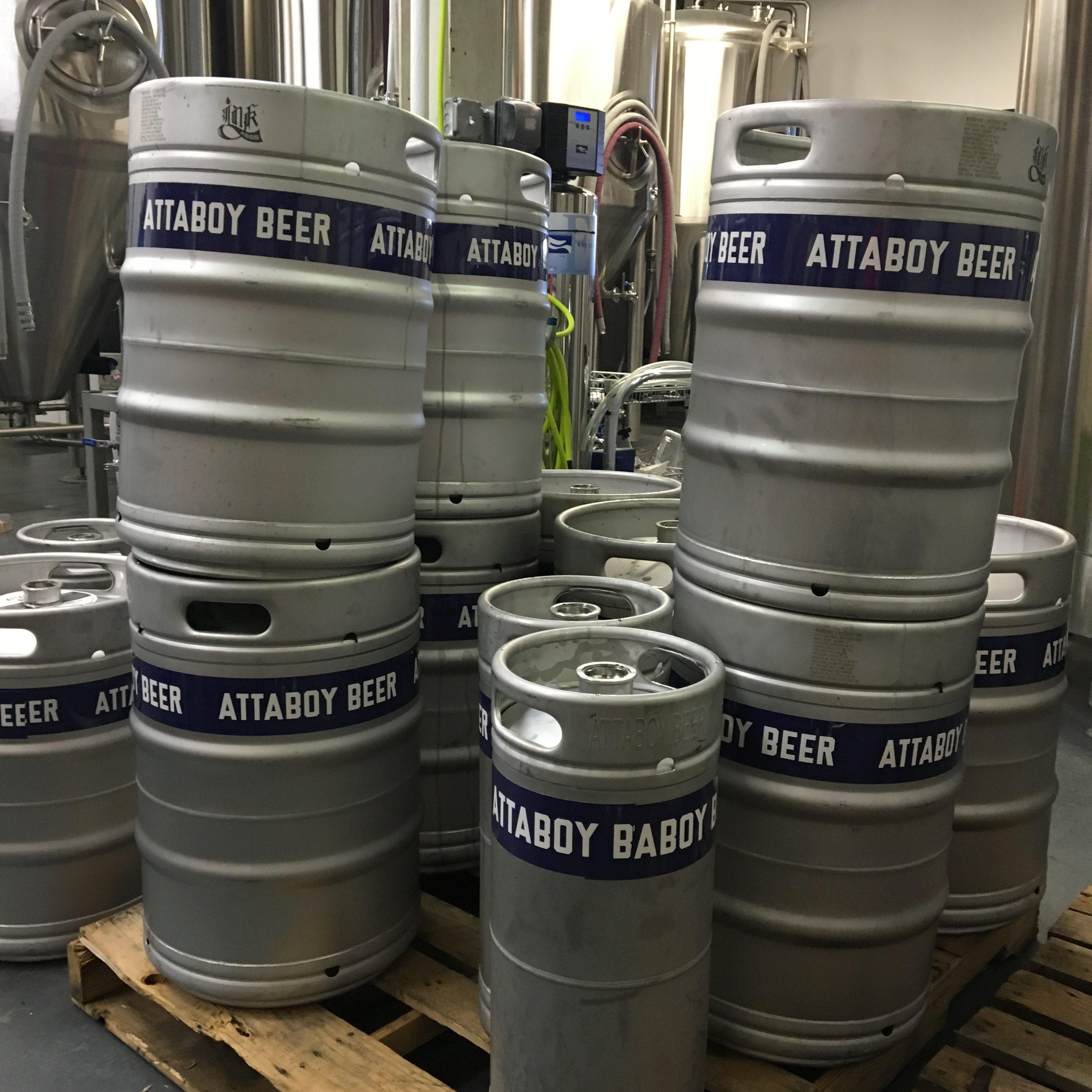 Attaboy Beer kegs