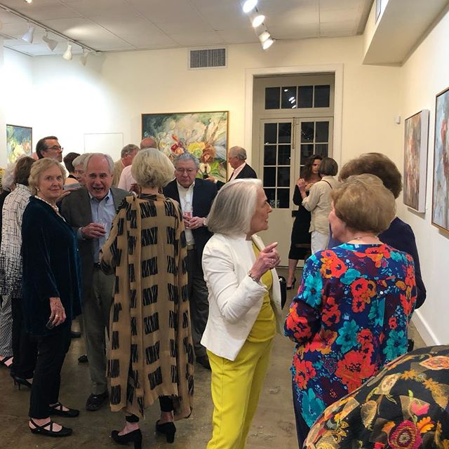 Thanks friends and family for joining us for the opening of Fleurs! @degasgallery #maryhelenseago #degasgallery