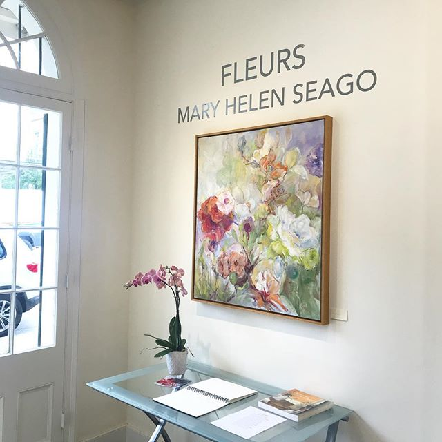 "Happy St. Patrick's Day ☘️It's a wonderful day to see Mary Helen Seago's ""Fleurs"" exhibition!  @degasgallery #nola #art #fleurs #painting #neworleansart"