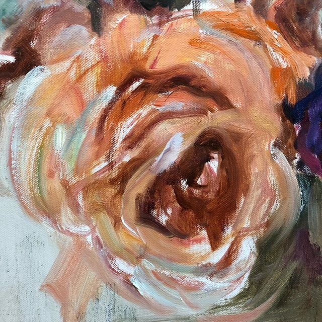 Detail of a rose by Mary Helen Seago @degasgallery #rose #maryhelenseago #neworleans #maryhelenseago