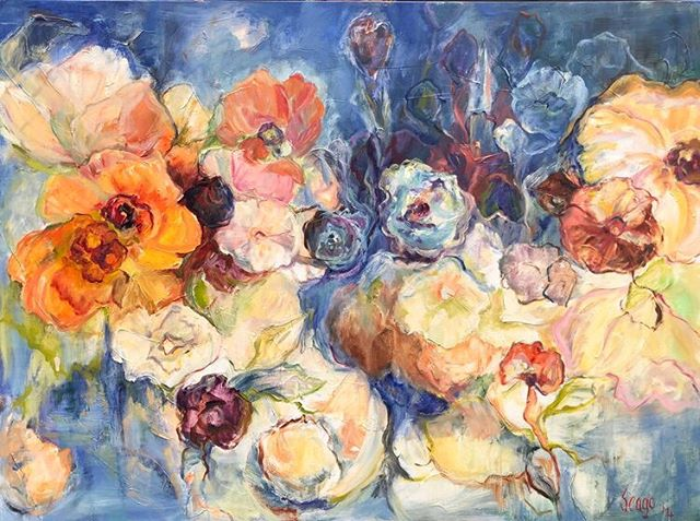 Midnight Magic by Mary Helen Seago, oil on canvas, 36x48 in. @degasgallery #degasgallery #nola #art #fleurs #neworleansartist