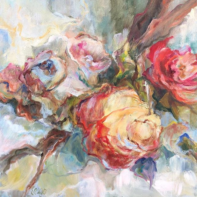 Congrats to Mary Helen Seago on the sale of this gorgeous botanical to New Orleans collectors! @degasgallery #neworleans #maryhelenseago #degasgallerynola #degasgallery #rose #love #beauty