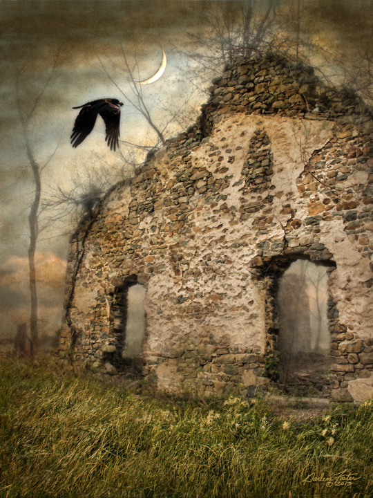 """Darlene Foster,""""As the Crow Flies,"""" photographic montage, 2013.  Image © Darlene Foster."""