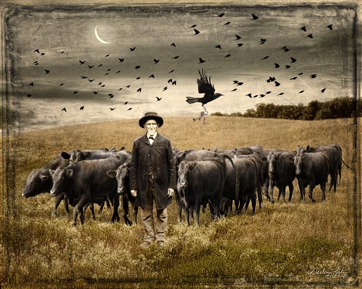 "Darlene Foster, ""The Skeleton Keys,"" photographic montage, 2014.  Image © Darlene Foster."