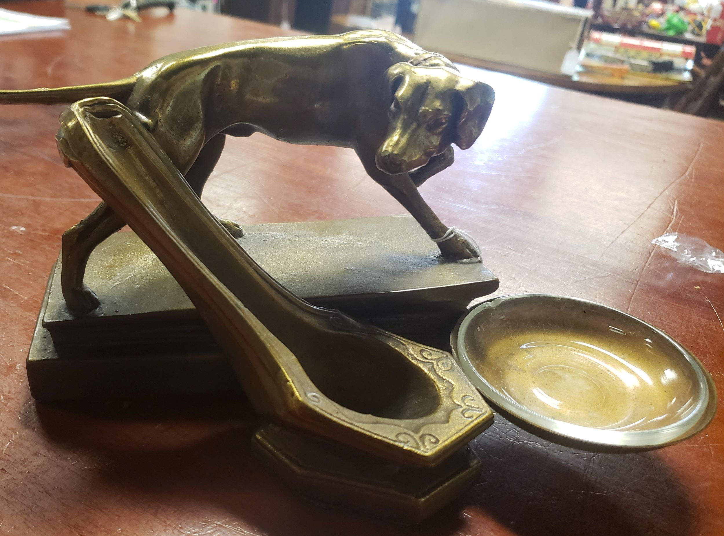 Art Deco Dog Pipe Holder