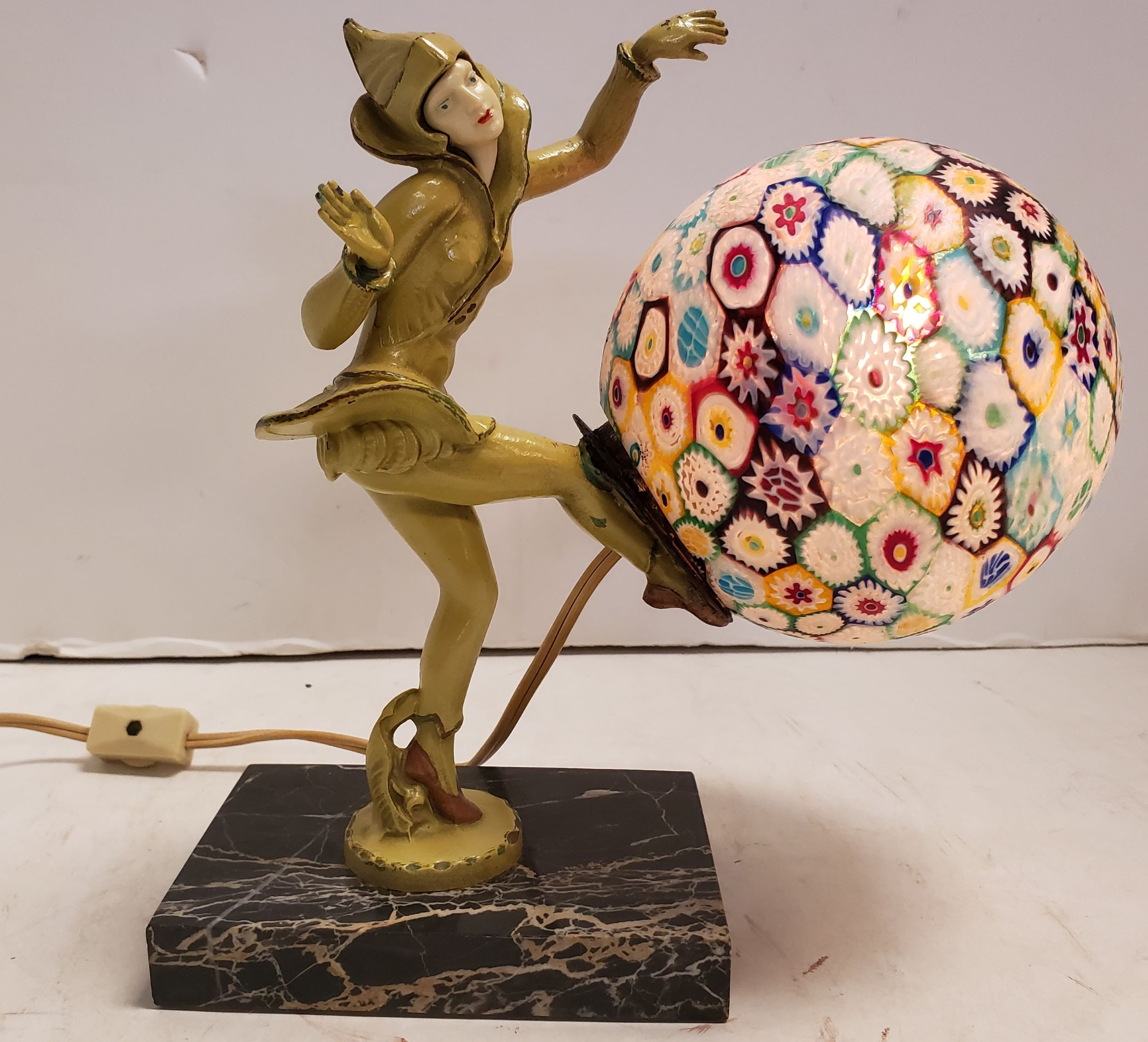 Art Deco Pixie Harlequin Lamp