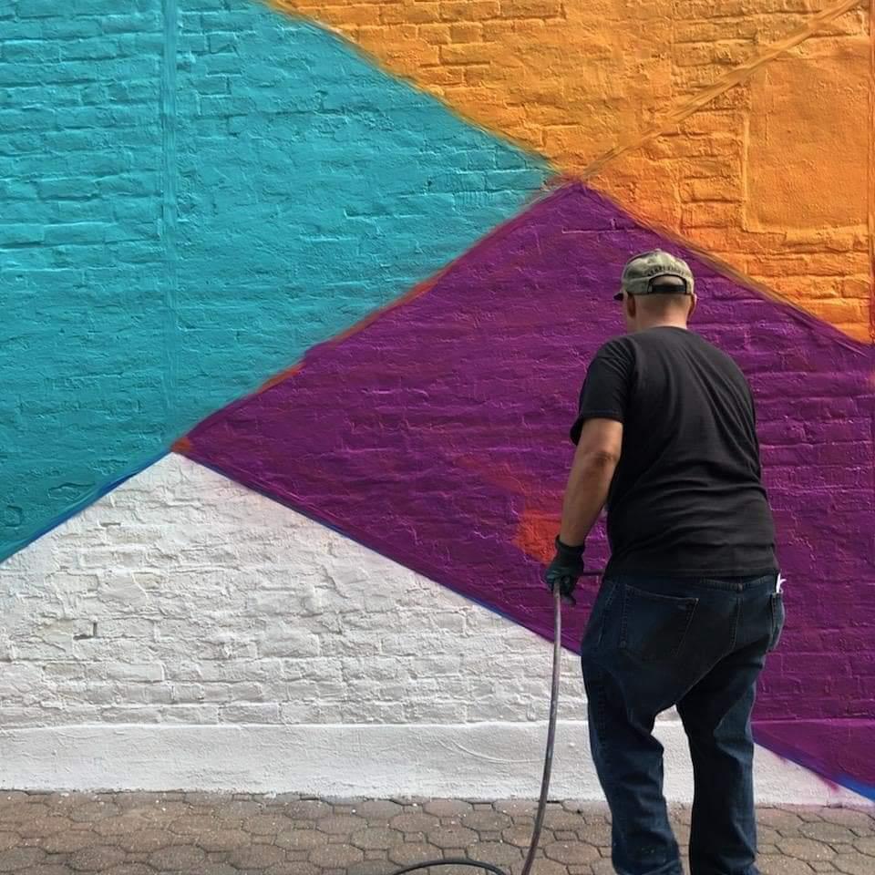 Leon Rainbow painting