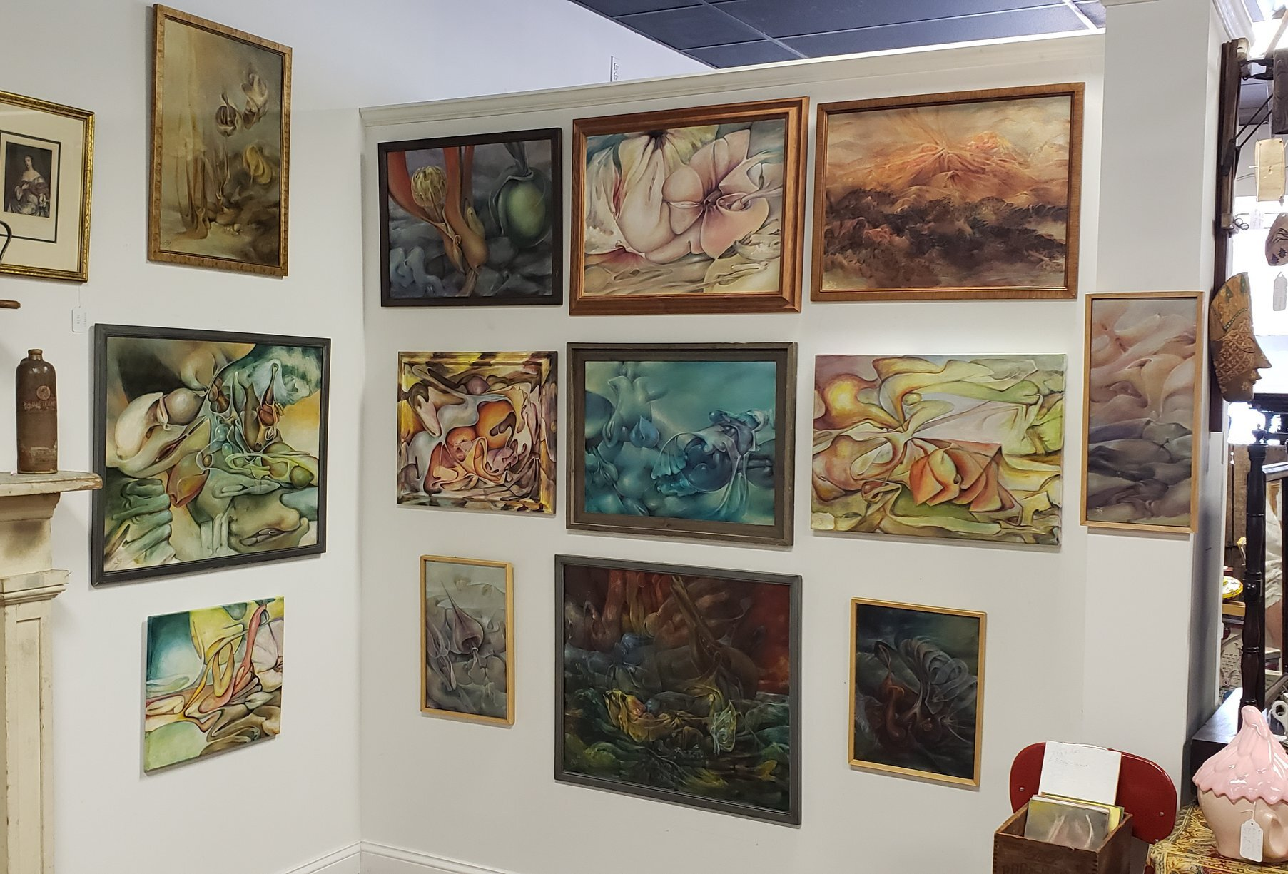 A view of Jan ten Broeke's Artist of the Month exhibition, April 2019