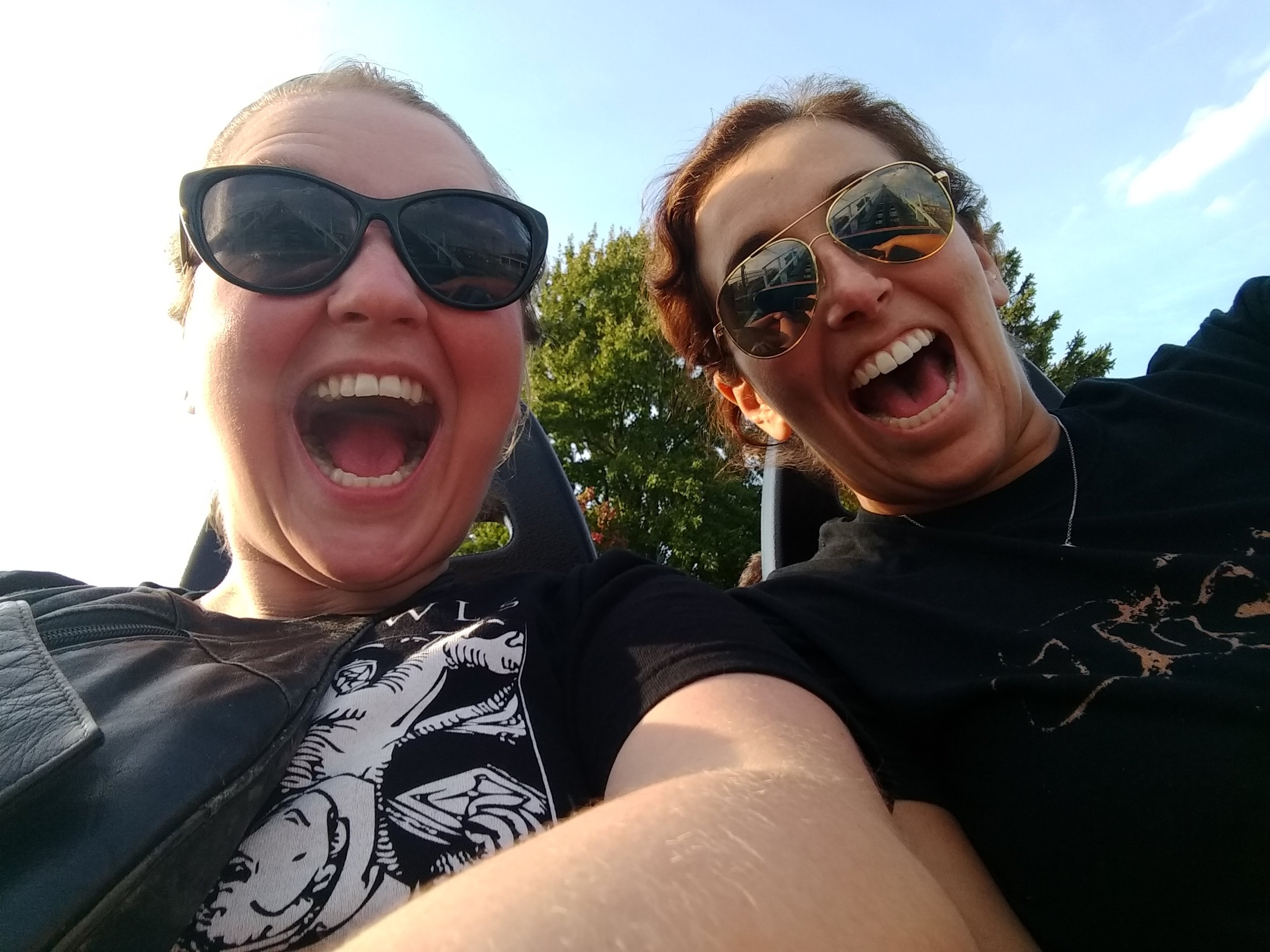 My friend Natasha and I on the front row of Blue Streak (my favorite coaster in Cedar Point).