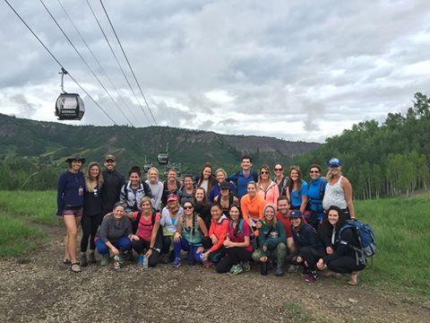 Leading 'Goals on the Rocks' hike at Wanderlust Festival Aspen-Snowmass!