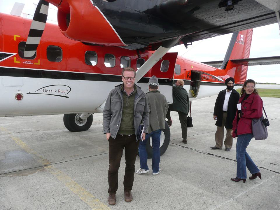 Ian about to board a bush plane in Labrador.
