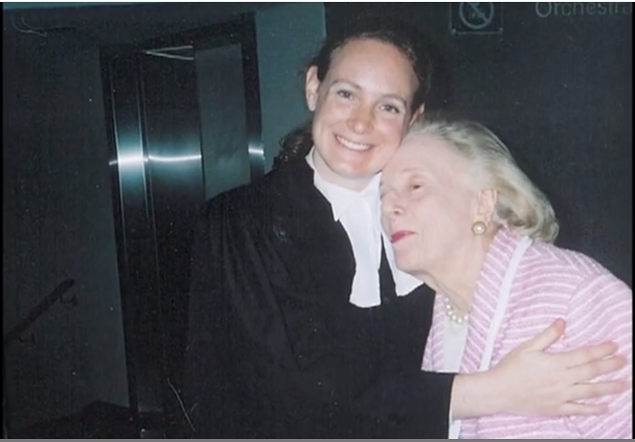 When Jess got sworn into the bar with her grandmother.