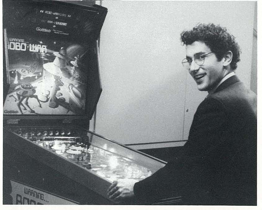 """""""Best way to 'de stress' before a job interview"""" - Marvin playing pinball in the basement of Old Chancellor Day Hall"""