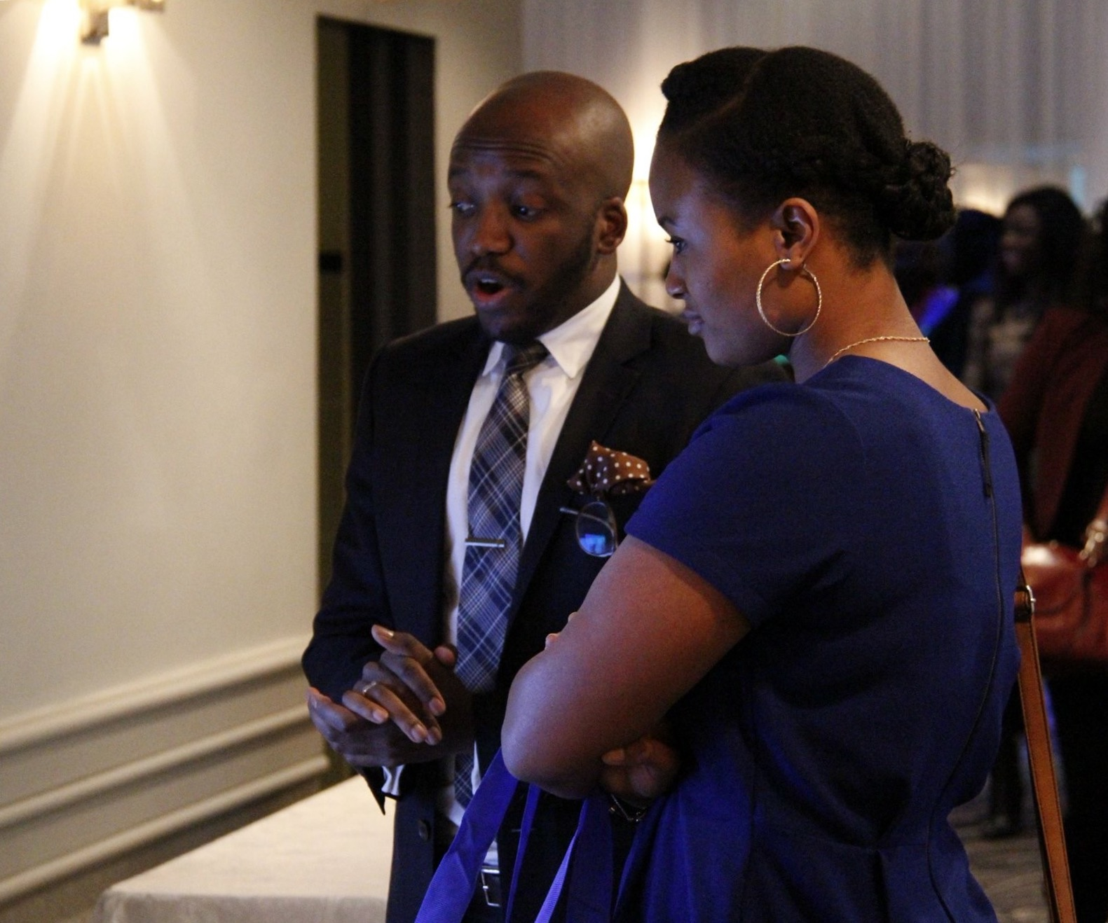 Zuwa at the Gov-Enhance Africa booth at McGill's 2016 Deusultes African Business Initiative (DABI)