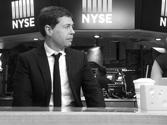 Jeff at an interview at Cheddar, the online news service from the floor of the New York Stock Exchange.