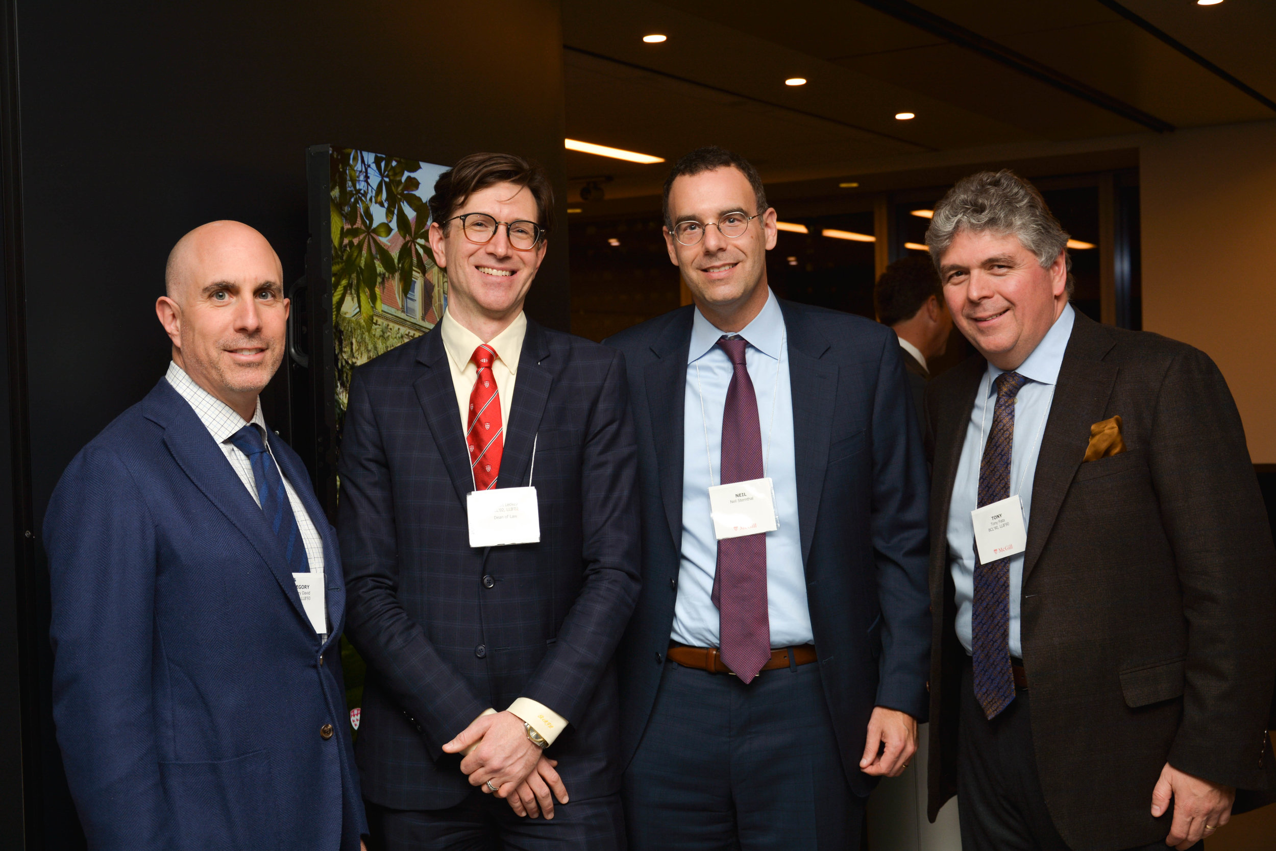 Dean Leckey photographed with Neil at McGill Alumni event in Toronto