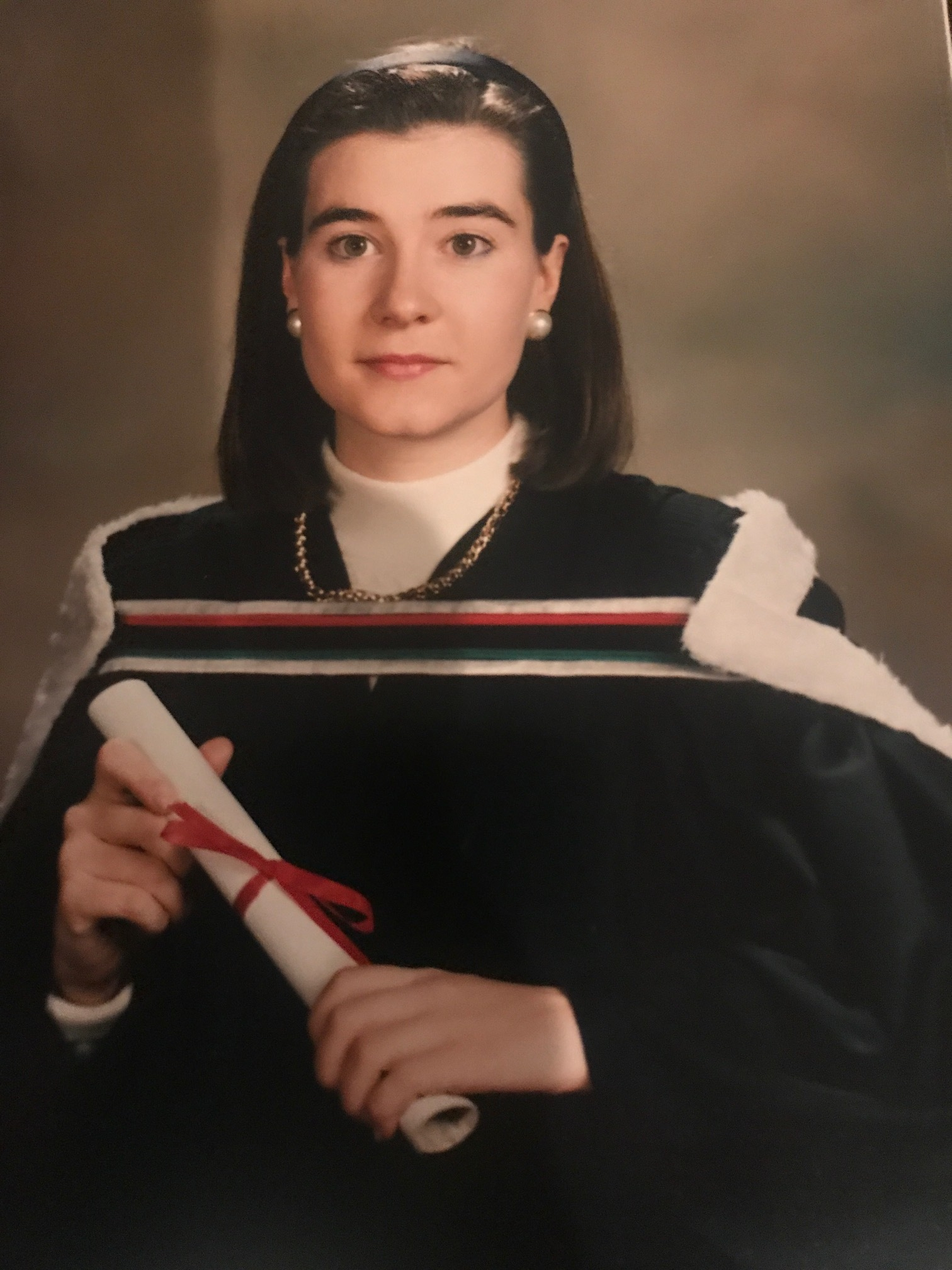 Hélène at her law school graduation in 1993 .