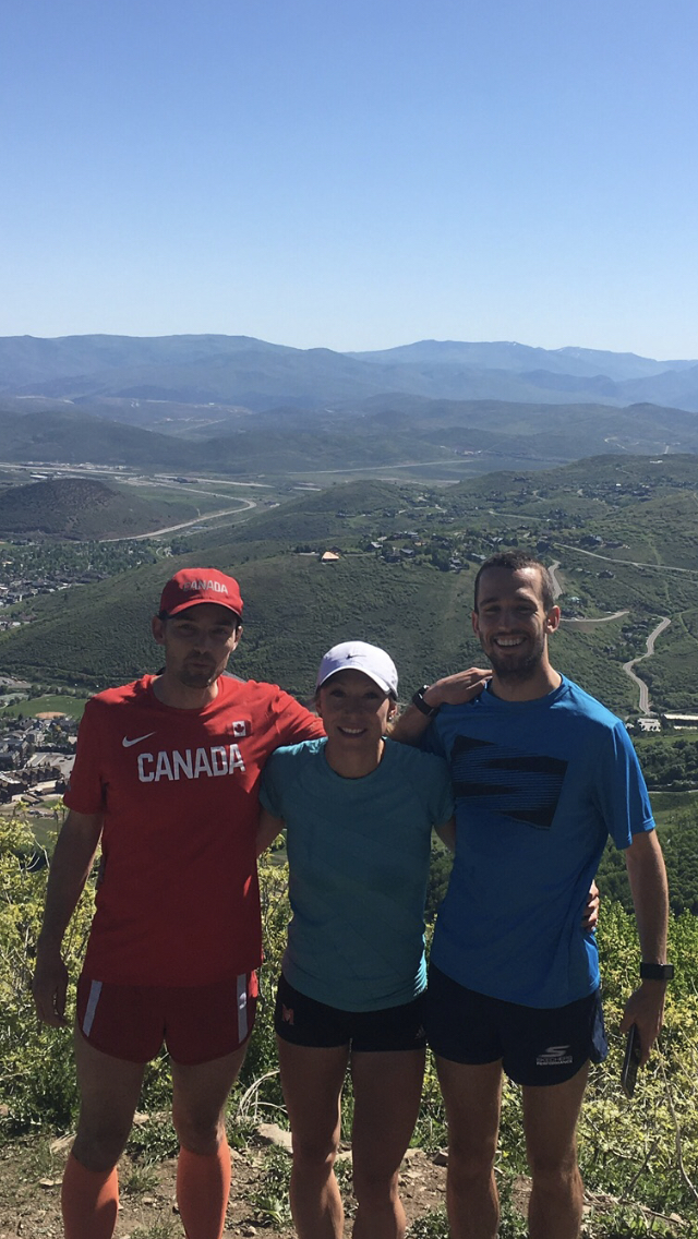 John on a training camp in Utah with two athletes he coaches