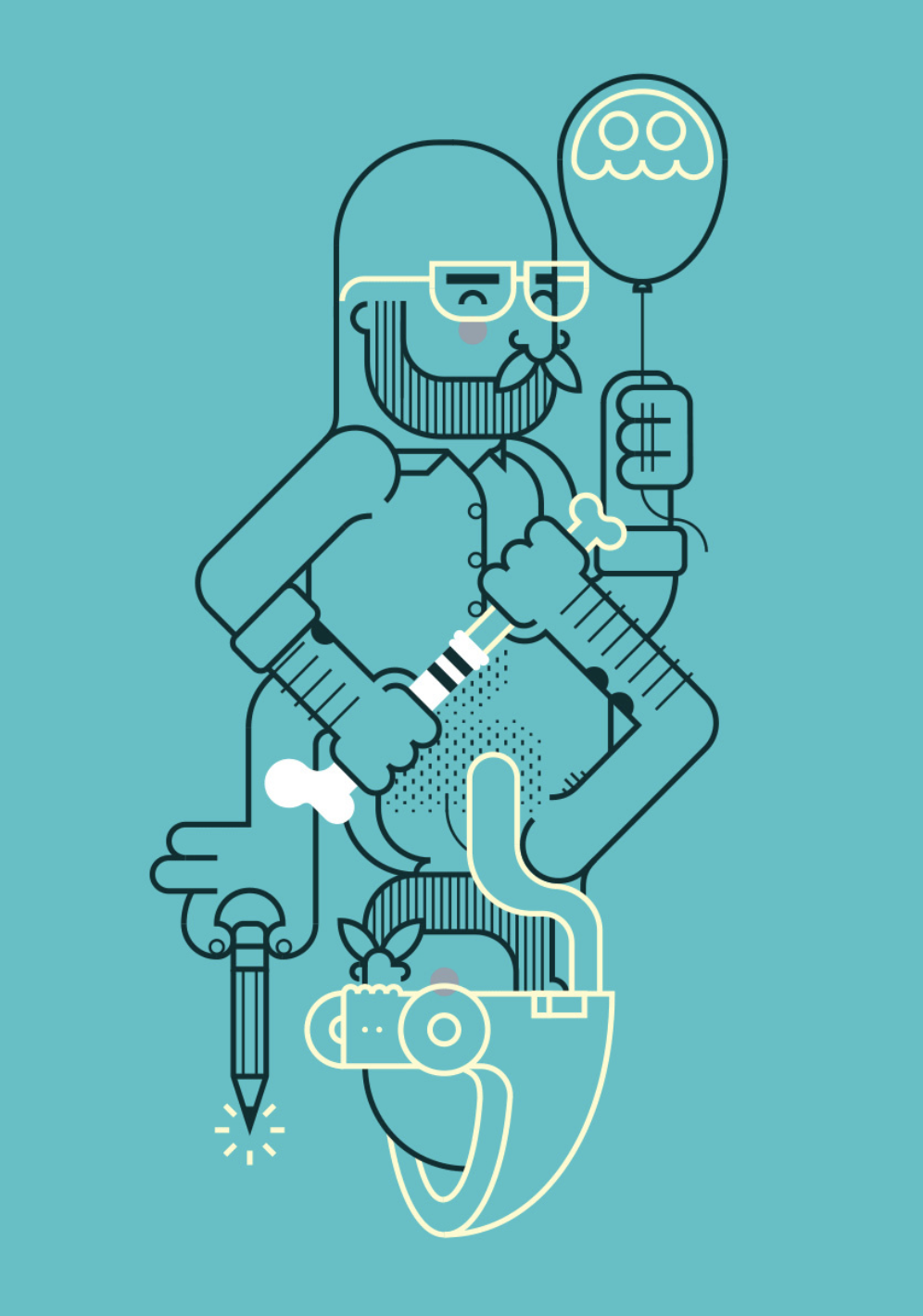 illustration_andre_levy_zhion_vector_outline_self_portrait_duality_artist_beard.png