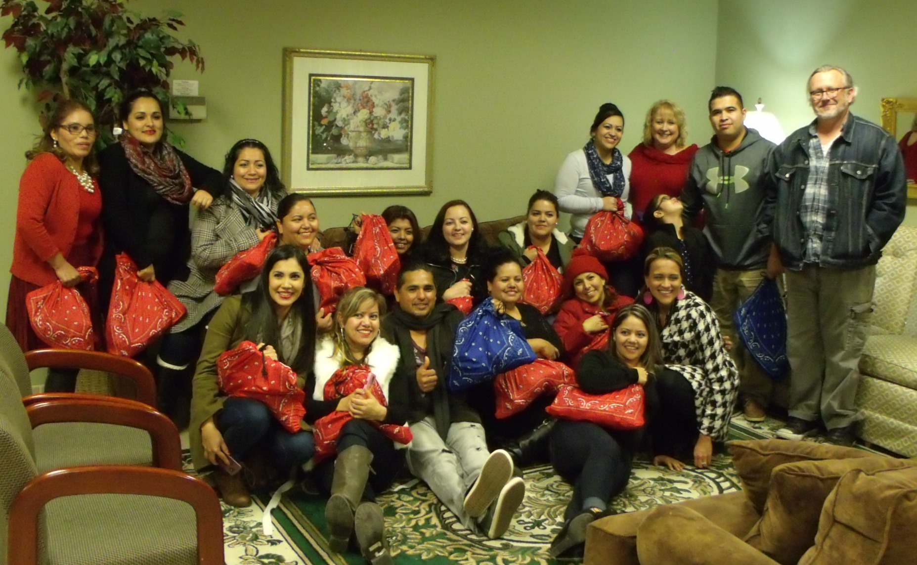 Begin Anew students at the Williamson County site Christmas party! Feliz Navidad!