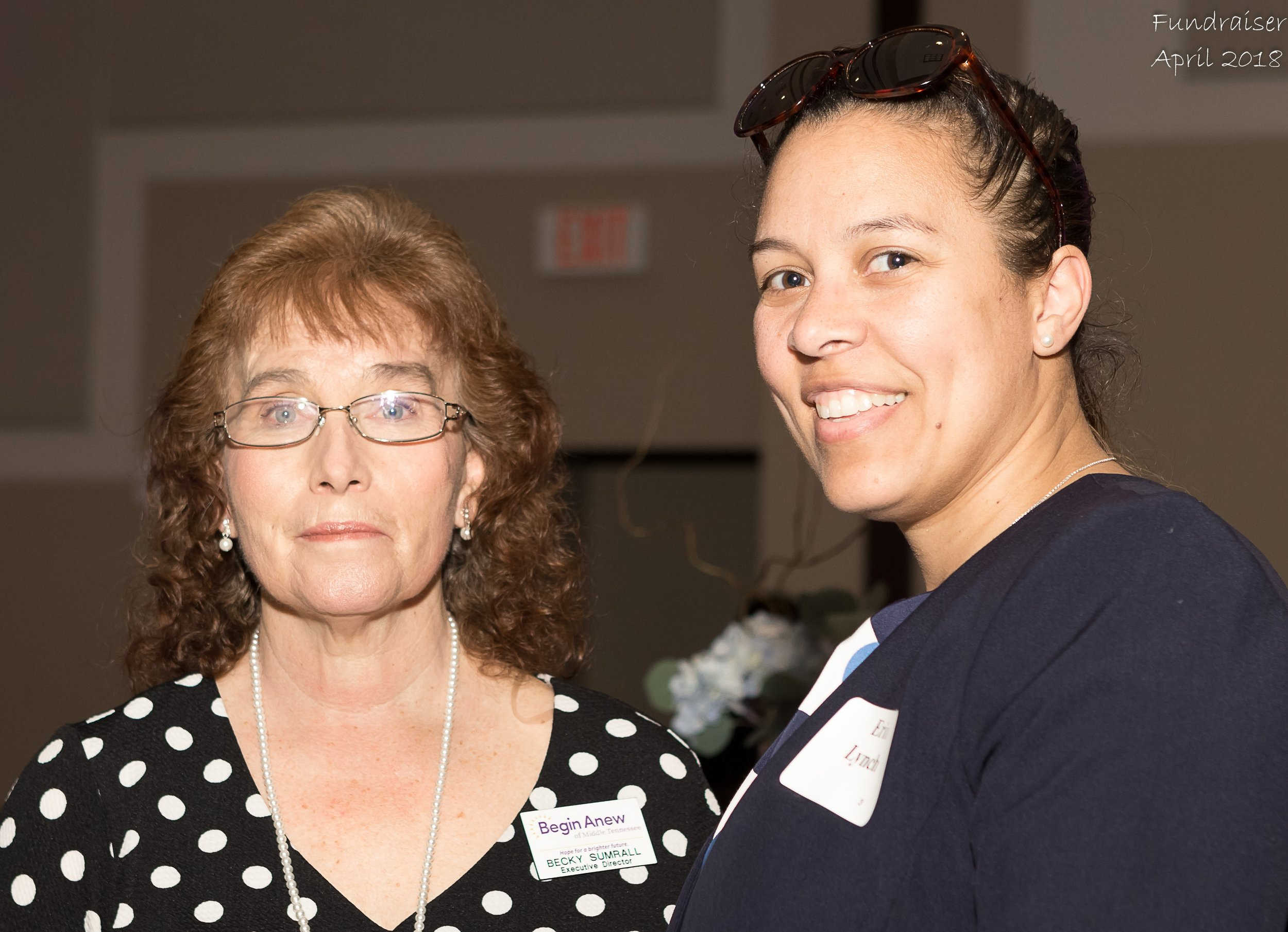 Becky Sumrall, Executive Director and Erin Lynch, Board Chair
