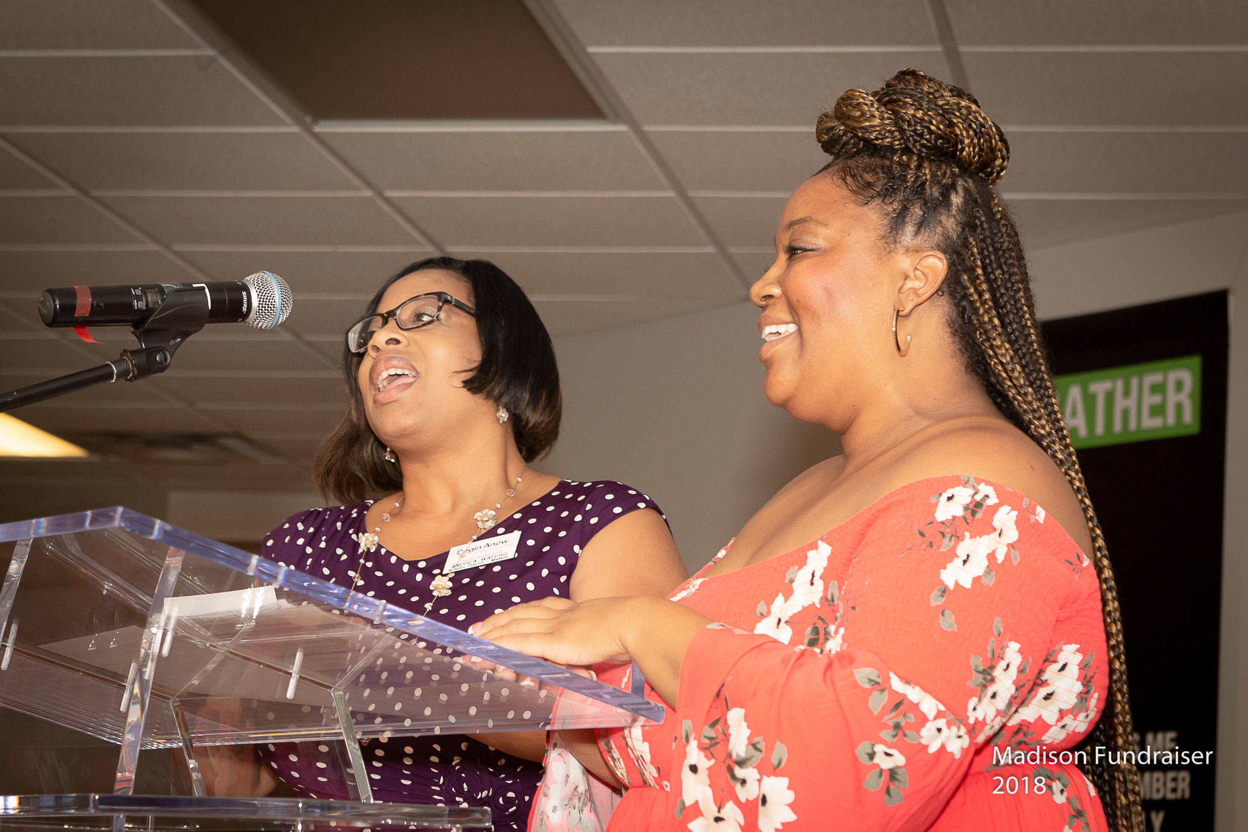 Doretha Newsome being interviewed by Madison Women's Director, Andrea Waters