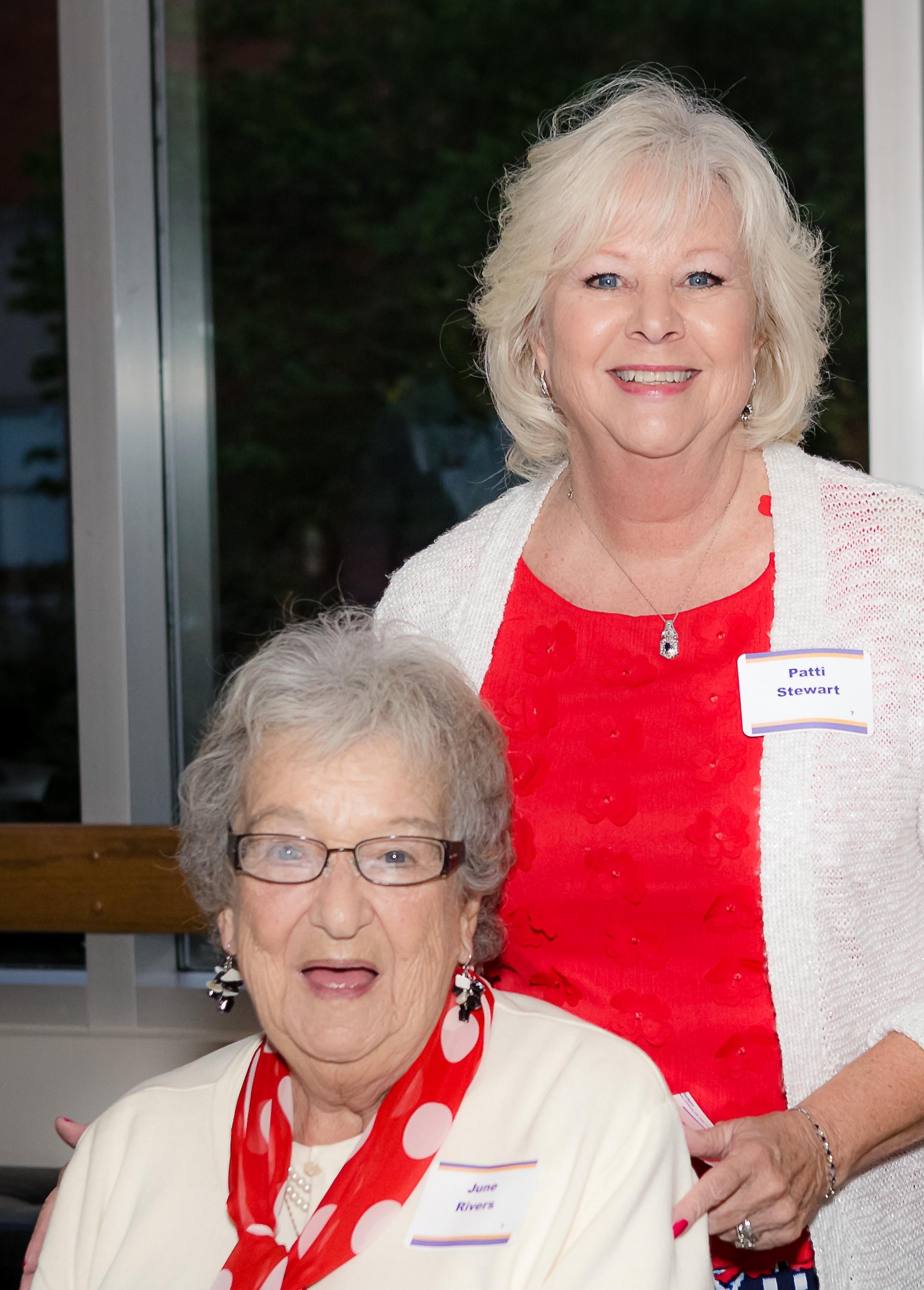 Patti Stewart with her mom