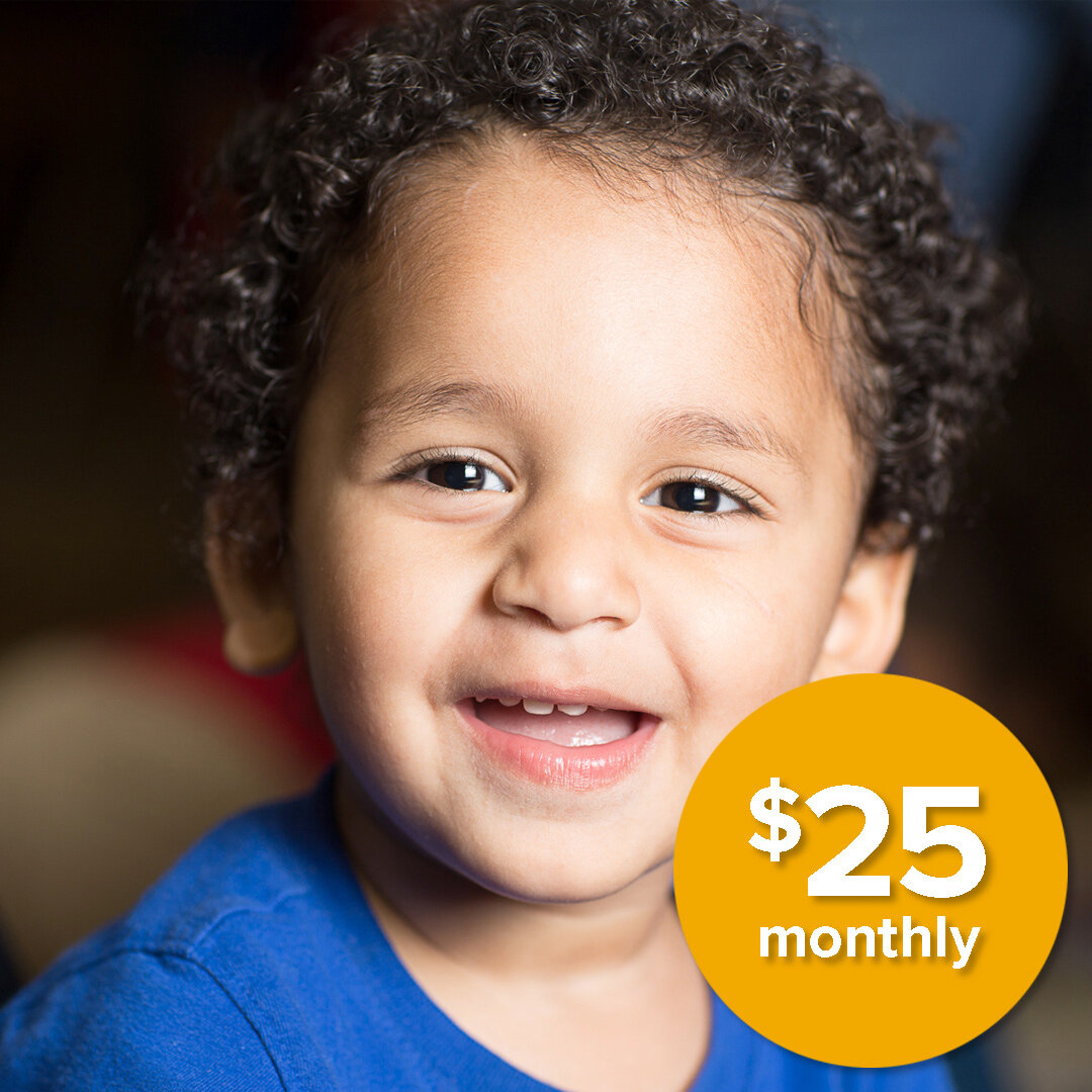 Give the Gift of Community  Your monthly investment of $25 provides children and their families the opportunity to stay together and form community as learning and care takes place.    DONATE