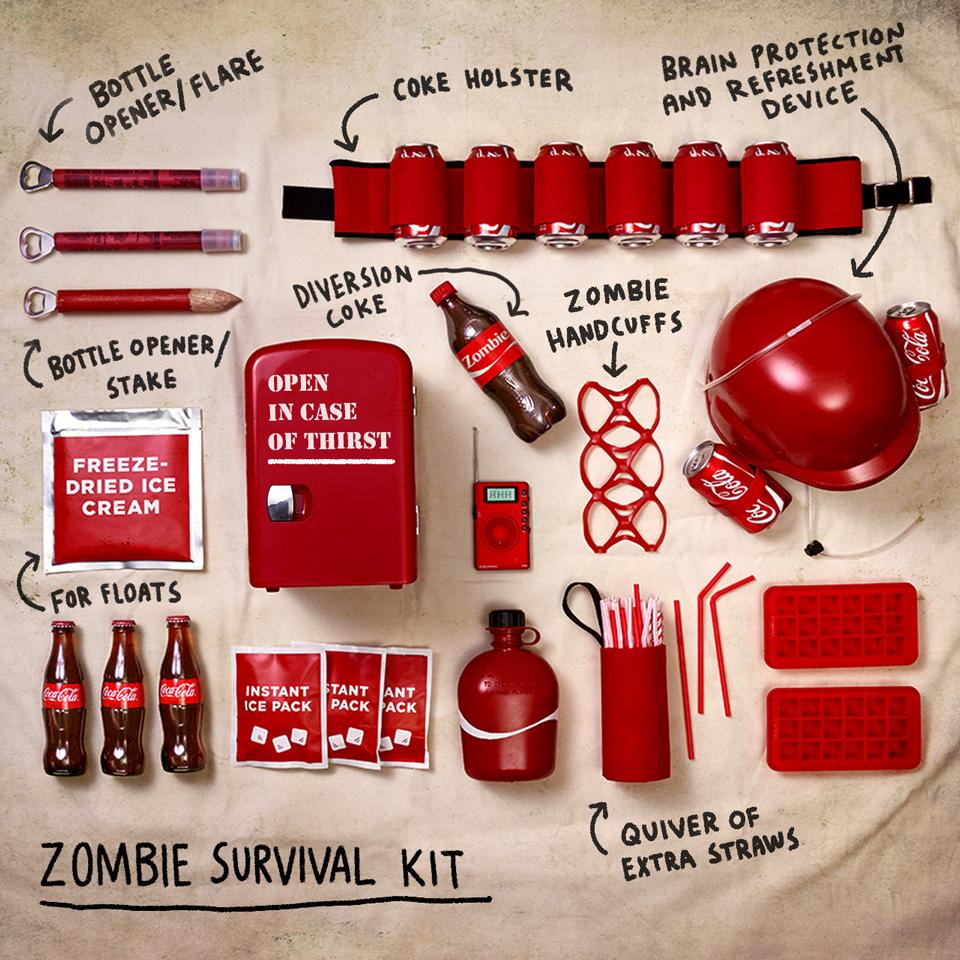 """What's worse than a zombie apocalypse? A zombie apocalypse without Coca-Cola.#WalkingDeadPremier"""
