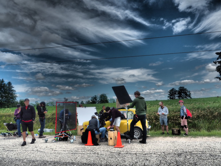 Stormy day of shooting