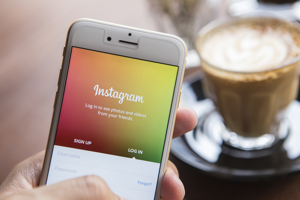 Instagram's log in screen