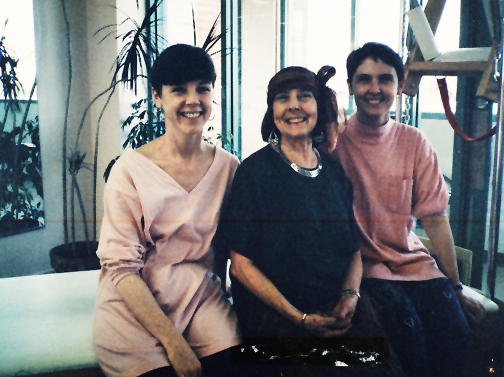 Rachel and Amy Taylor with Romana Kryzanowka in Boulder in 1993.