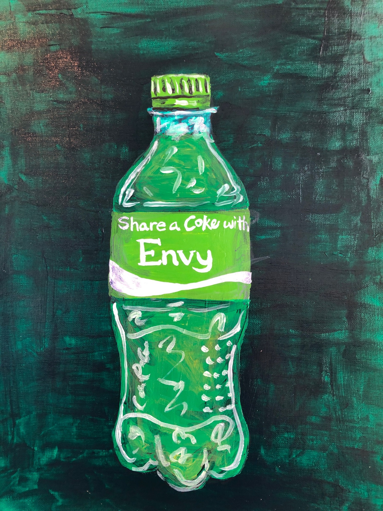 Green with Coke