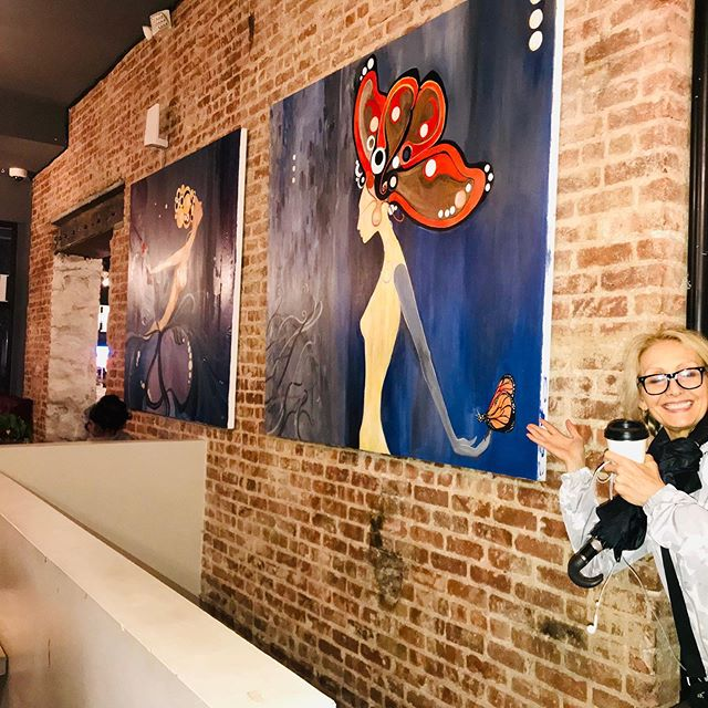 Happiness is good art and good coffee.