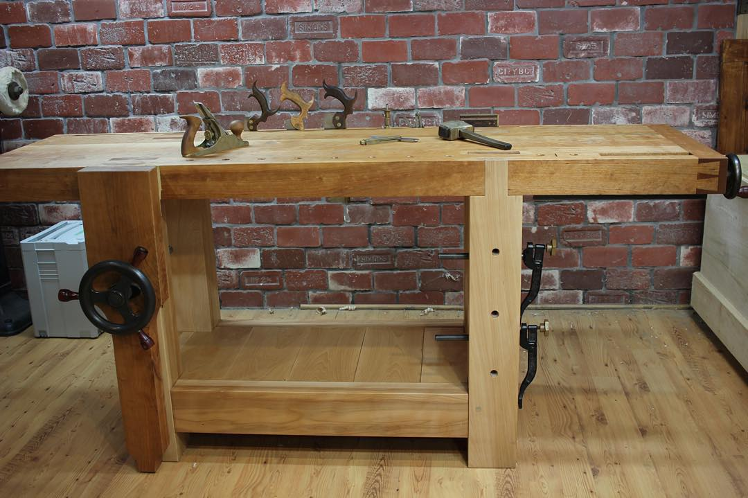 Need to post a few more nice pictures of my recently completed cherry and beech workbench…  #condortails #madeinusa #madeinmichigan #Benchcrafted #woodshop #workshop  #woodwork  #handmade #cherry #beech  #workbench #roubo #tenon #dovetail #legvise #wagonwheel #woodworking #mcmfurniture #lienielsen #whiteoak  http://ift.tt/1OcBo1p