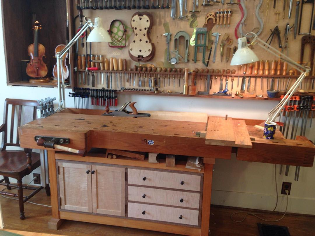 Kelvin just sent me a shot of his workbench with the cabinet installed. Looks great!  #cabinet #maple #walnut #mcmfurniture #hinge #hardware #installation #design #handmade #madeinusa #madeinmichigan #kelvinscabinet #doors #butthinge #workshop #woodworking #diefenbacher #bench #workbench  http://ift.tt/1WRzo0u