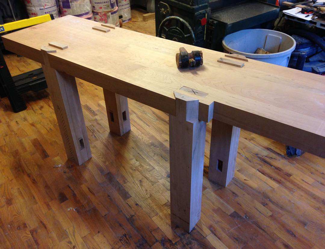 "Legs ""dry fitted"" and looking good! Stretchers marked and ready for gluing  http://ift.tt/1jOJj8R"