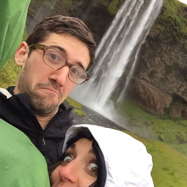 My little bro @mikemcchillin had to miss the family vacation this year because he's in Iceland on work trip. I guess there are waterfalls every 100m. Pretty!  #Iceland #waterfall #trip #overseas #missmybro #whataselfie  http://ift.tt/1hf658w
