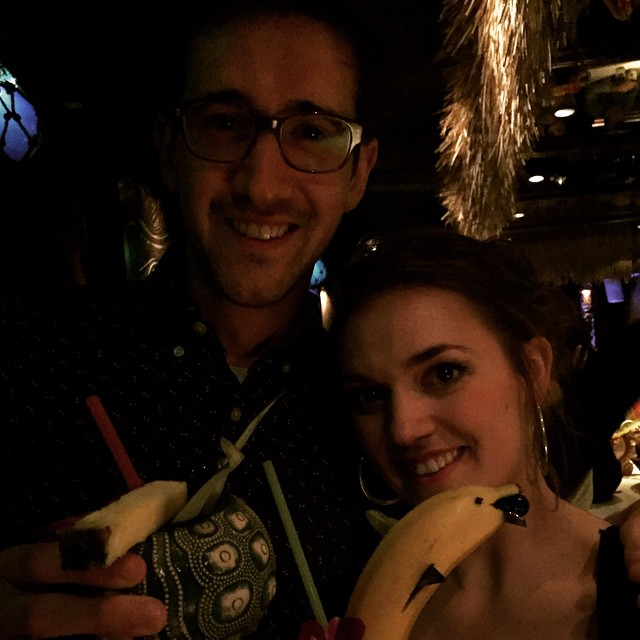 My little bro and sis. Molly was on your dancing in Chicago.   #family #fancydrinks #chicago #dancer #dancing  http://ift.tt/1KnyW6z