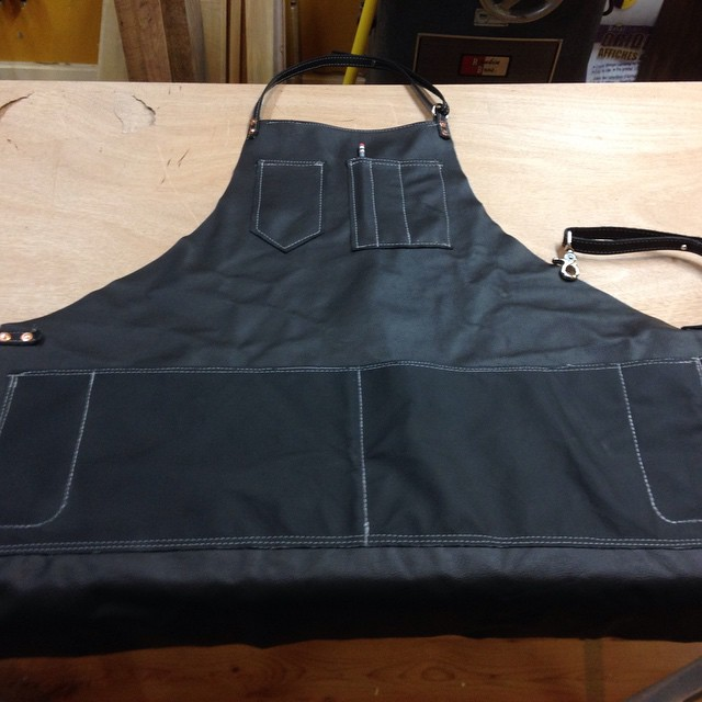 I made this leather apron years ago before I knew about @txheritage and the great work they do. It serves me well, but I'd be lying if I said I'm not a little envious of the sweet embroidered waxed canvas aprons I see others sporting! Hahahahaha  #shopapron #workshop #leather #handmade #mcmfurniture #design #upholstery #apron  http://ift.tt/1HdUYaW